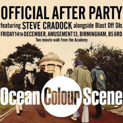 Ocean Colour Scene Official After Show Birmingham tickets
