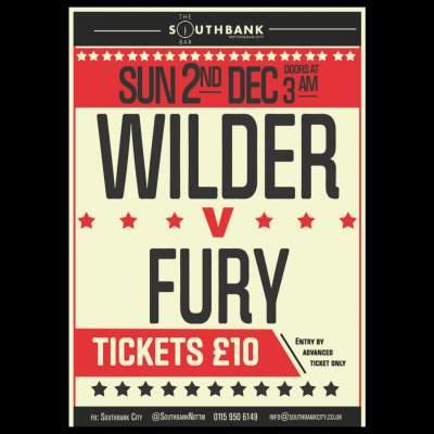 Wilder v Fury Live tickets