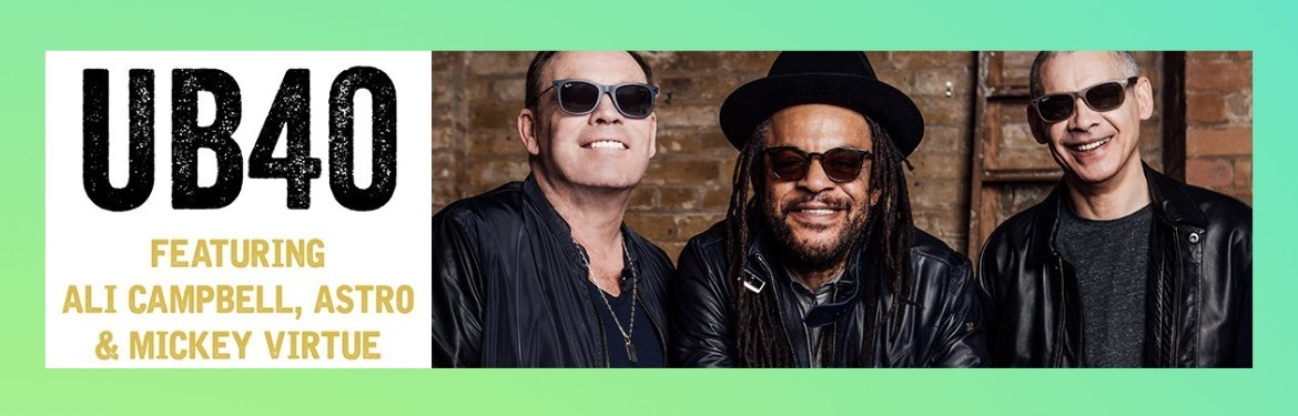 An image for UB40 featuring Ali Campbell, Astro and Mickey // Ocean Colour Scene // Ride