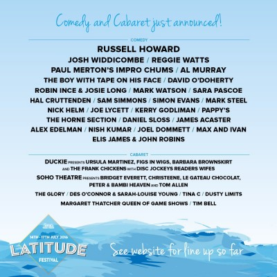 An image for Latitude - Comedy Announcements
