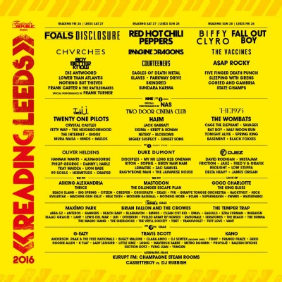 An image for New Announcements For Reading & Leeds Festival 2016