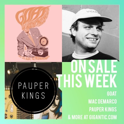 An image for Goat // Mac DeMarco // Pauper Kings // Sigrid // Forever Amy