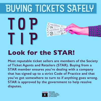 An image for Buying Tickets Safely