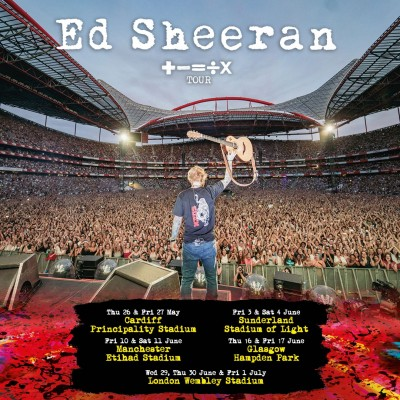 An image for Digital tickets for Ed Sheeran's + - = ÷ x Tour