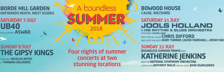 A Boundless Summer tickets