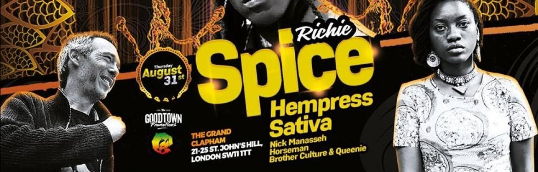 Richie Spice & Hempress Sativa tickets