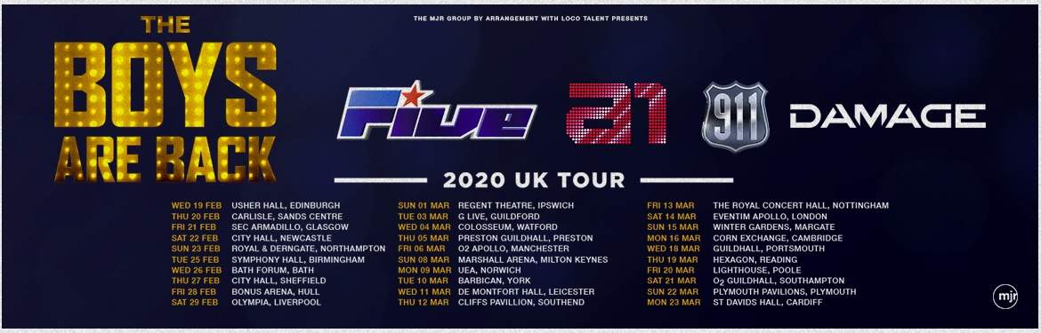 The Boys Are Back! with 5ive, A1, Damage and 911  tickets