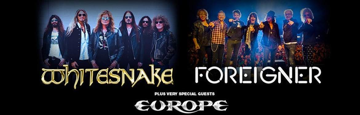 Whitesnake, Foreigner + Europe  tickets