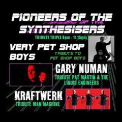 Pioneers of the Synthesiser featuring Gary Numan tribute Pat Martin & The Liquid Engineers + Kraftwerk tribute Man Machine