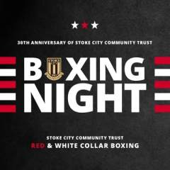 Red and White Collar Boxing
