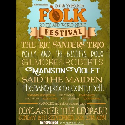 South Yorkshire Folk, Roots and World Music Festival tickets