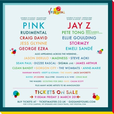 Virgin V Festival tickets
