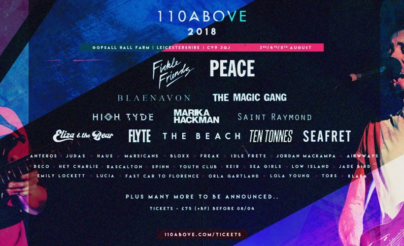 110 Above Festival tickets