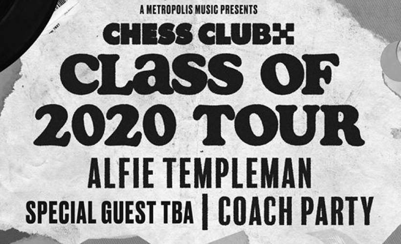 Chess Club Records & DIY Presents: Alfie Templeman, Special Guest TBA, Coach Party tickets