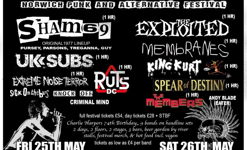 Norwich Punk & Alternative Festival 2018 tickets