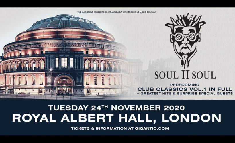 Soul 2 Soul Tour 2020 Tickets Soul II Soul Tickets   Royal Albert Hall, London   24/11/2020 18:45