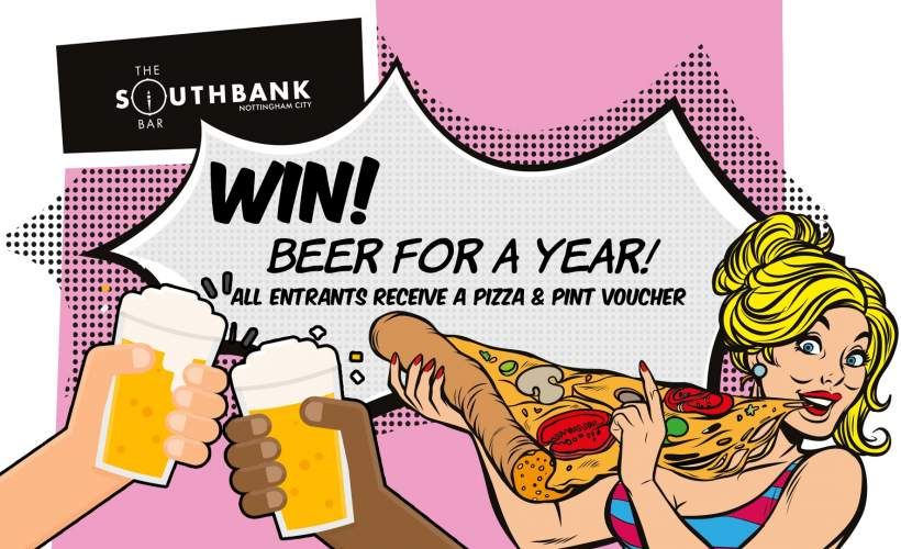 Southbank City Win Beer for a Year Prize Draw tickets