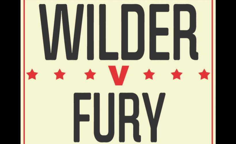 Wilder v Fury Live tickets