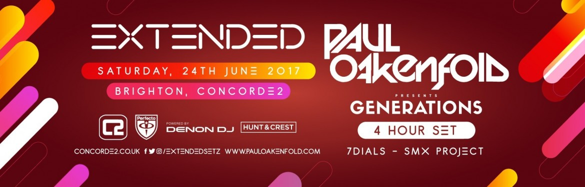 Extended pres. Paul Oakenfold presents Generation (4 Hour Set) tickets