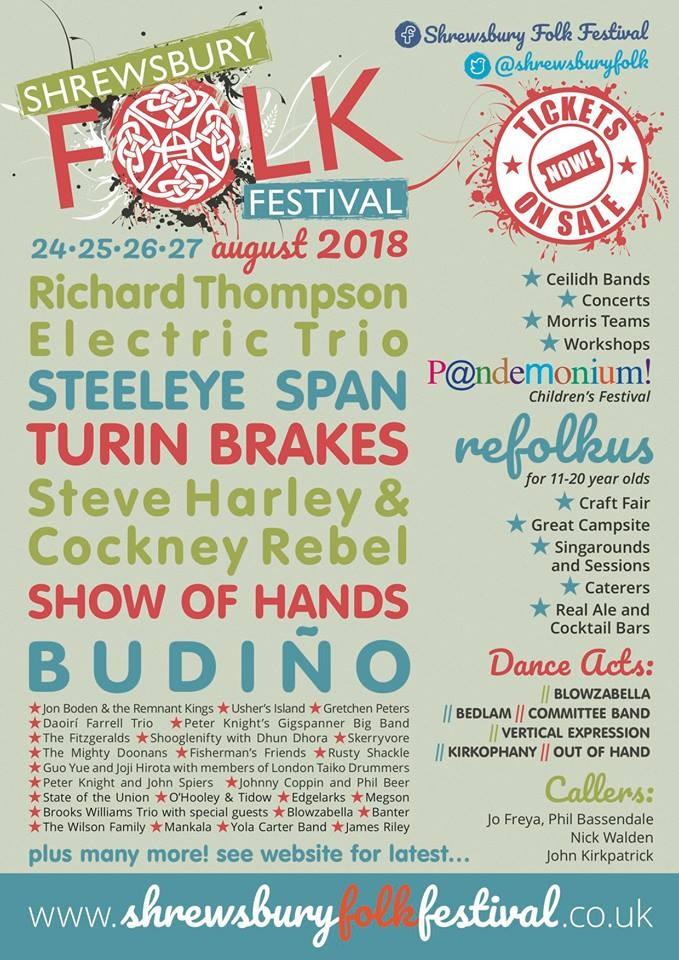 Shrewsbury Folk Festival 2018