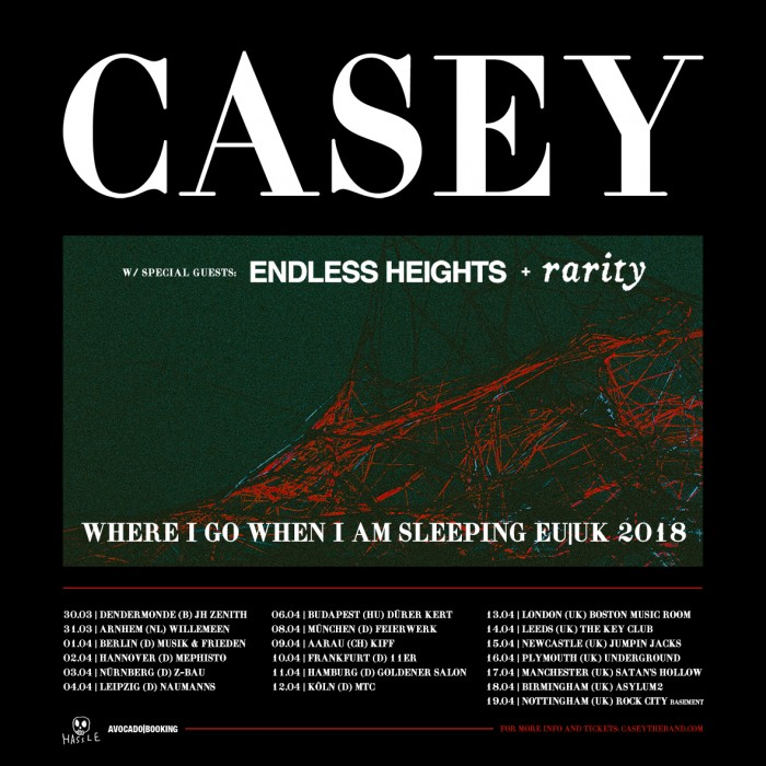 Casey, Endless Heights, Rarity - Manchester