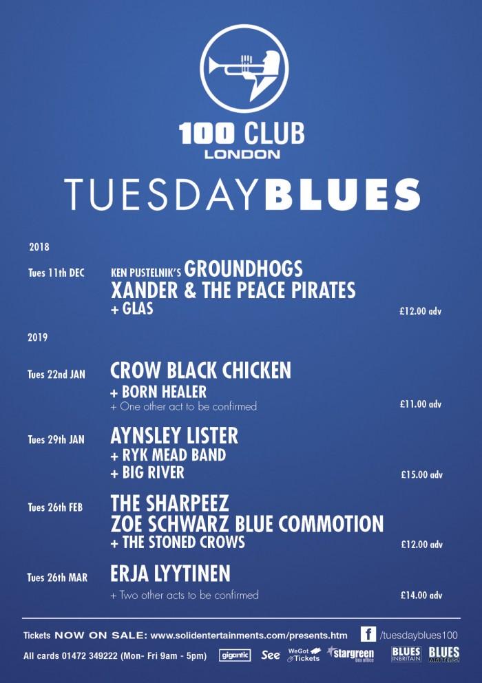 London 100 Club Tuesday Blues - Aynsley Lister