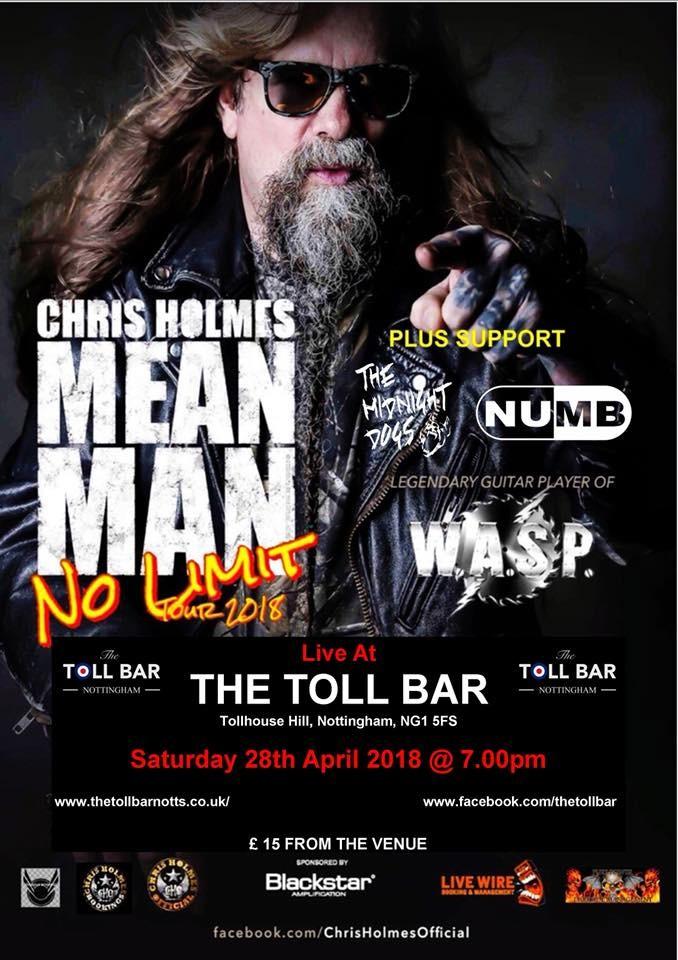 Chris Holmes: Mean Man No Limit Tour 2018