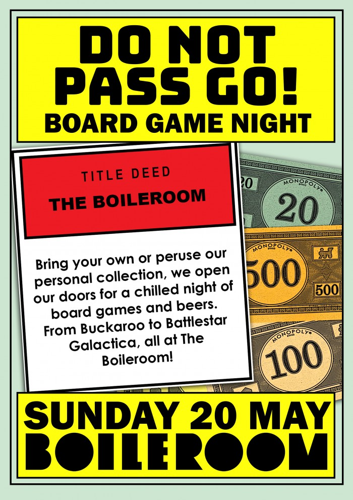 Do Not Pass Go: Board Games Night