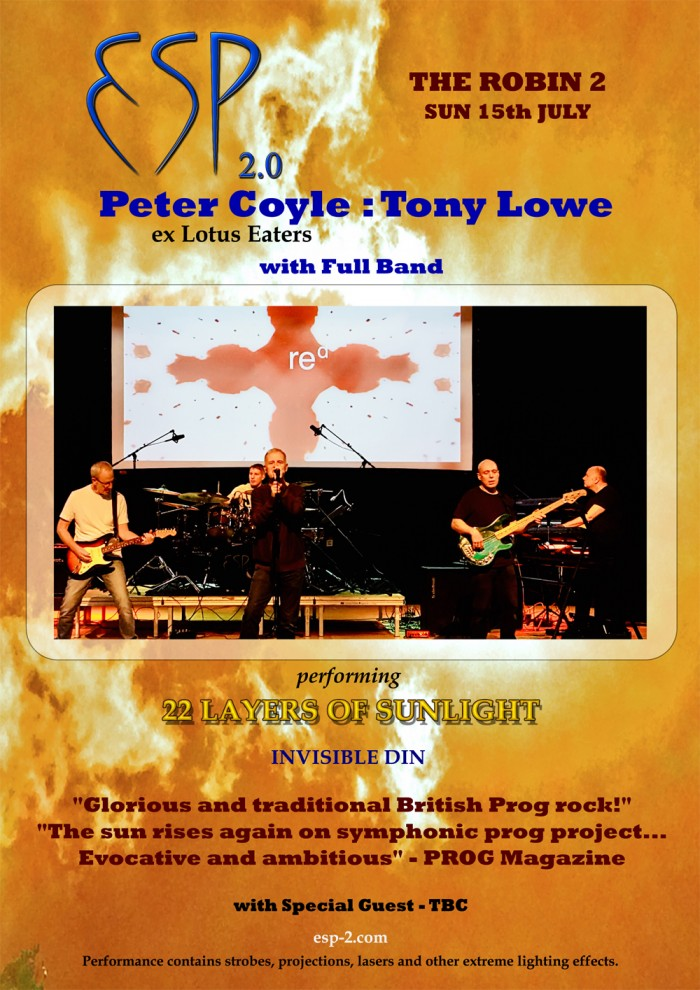 ESP 2.0 - Feat: Peter Coyle (ex Lotus Eaters) Tony Lowe & Full Band