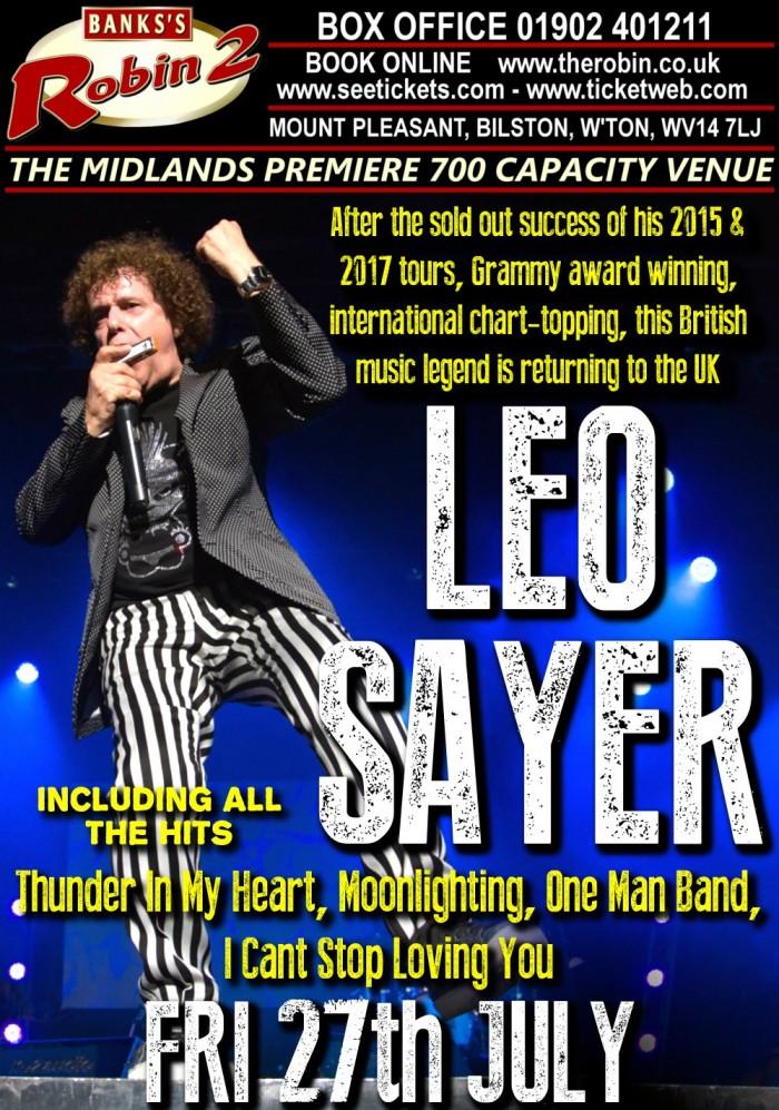 Leo Sayer 2018