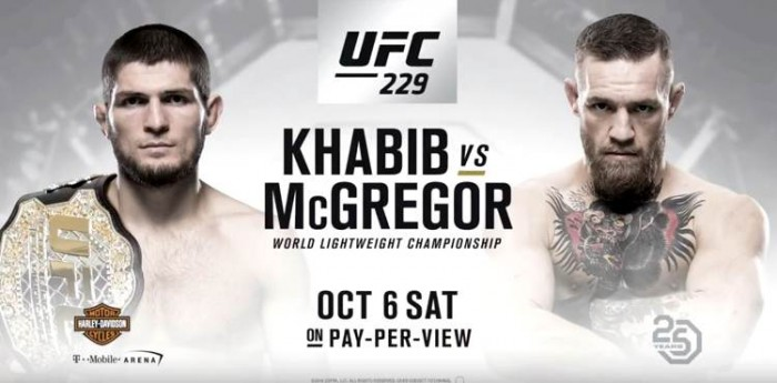 UFC: 229 Khabib vs McGregor Live on PPV