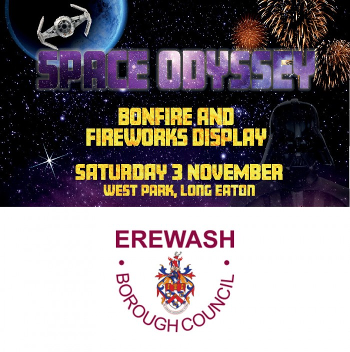 Space Odyssey<br>Bonfire and Fireworks Display