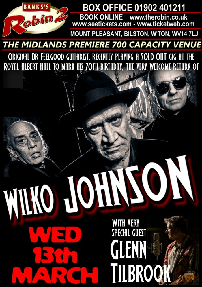 Wilko Johnson with special guest Glenn Tilbrook