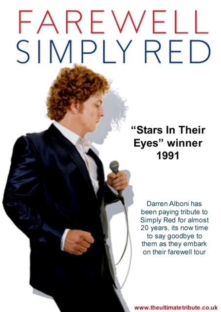 Simply Red Tribute by Darren Alboni Stars in their Eyes winner