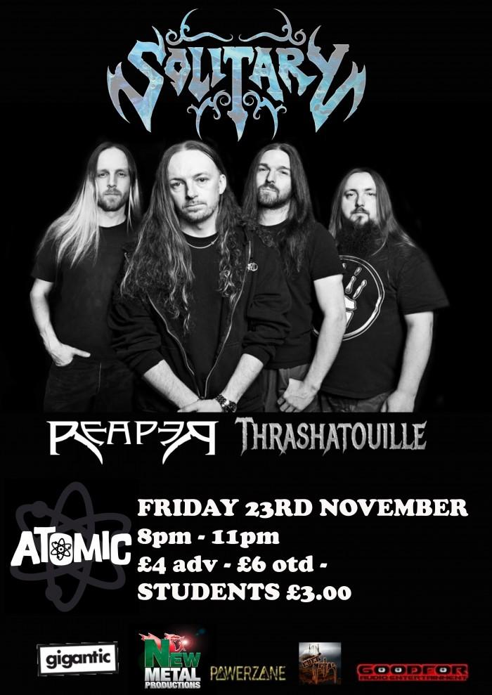 Solitary, Reaper & Thrashatouille at Atomic 23/11/2018