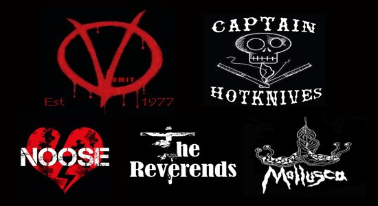 Vomit, Captain Hotknives, Reverends, Mollusca and Noose