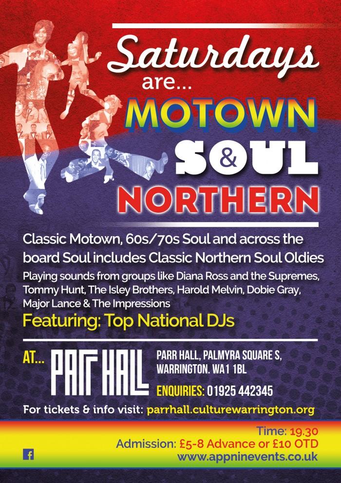 Appnin Events present Saturdays are Motown Soul & Northern