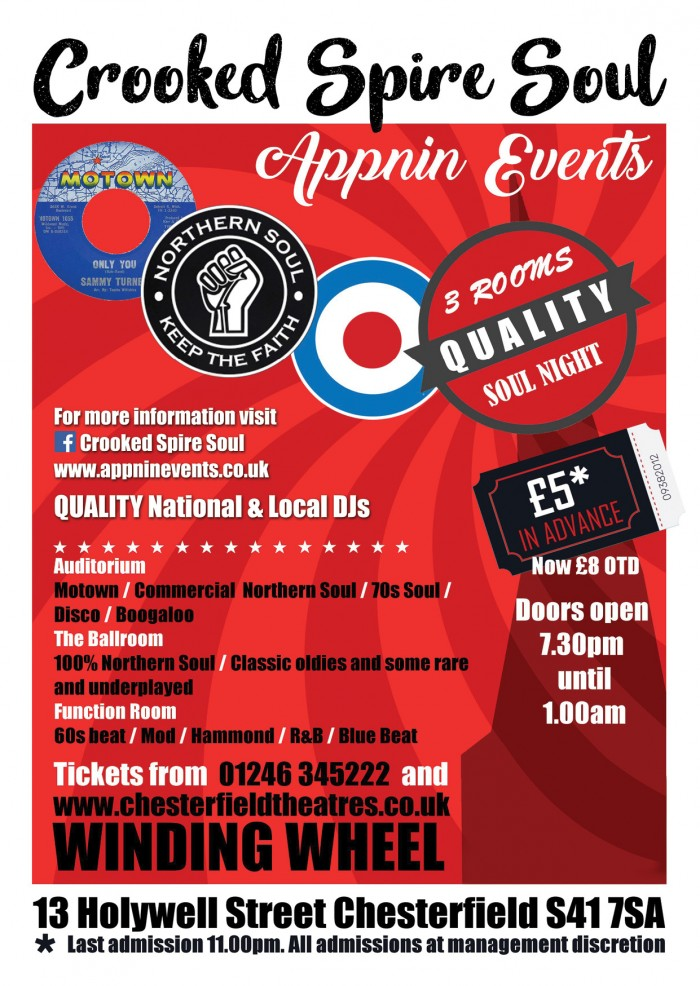 Appnin Events present Crooked Spire Soul Club,Winding Wheel