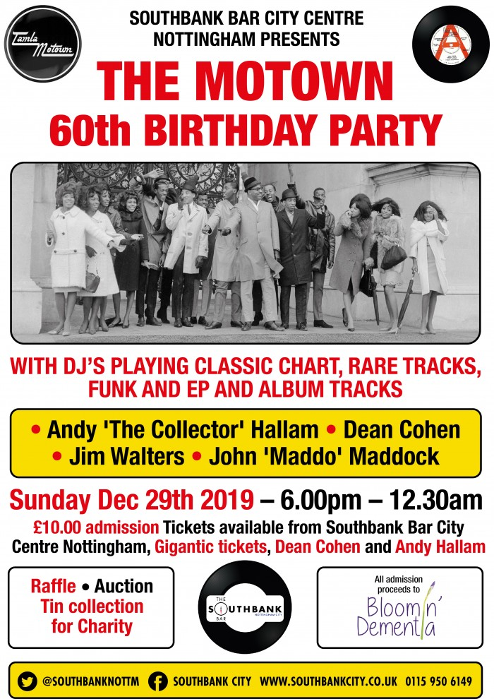 The Motown 60th Birthday Party Fundraiser