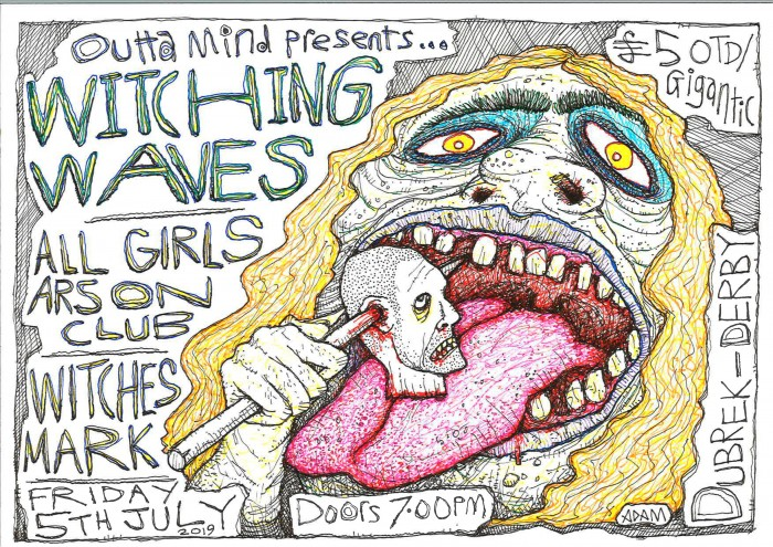 Witching Waves, All Girls Arson Club & Witches Mark at Dubrek Studios
