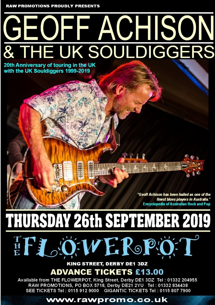Geoff Achison and The UK Souldiggers