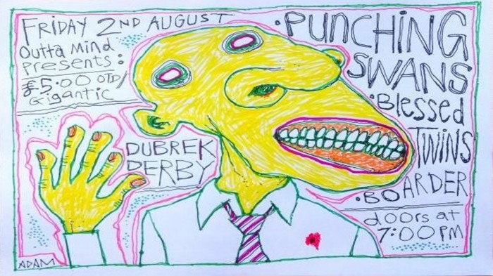 Punching Swans, Blessed Twins & Boarder at Dubrek Studios