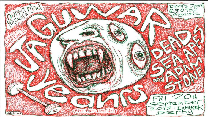 Jaguwar, Yeahrs & Dead Sea Apes and Adam Stone at Dubrek Studios