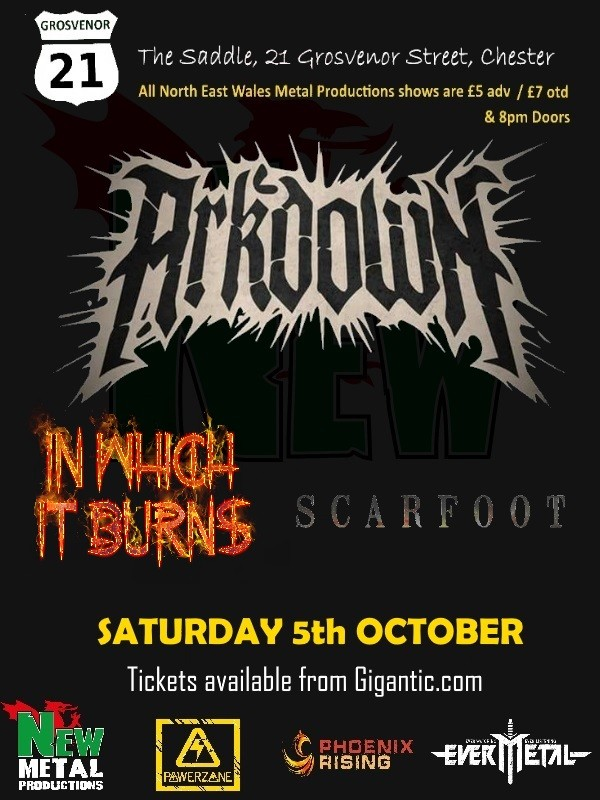 New Metal at the G21: Arkdown, In Which It Burns, Scarfoot