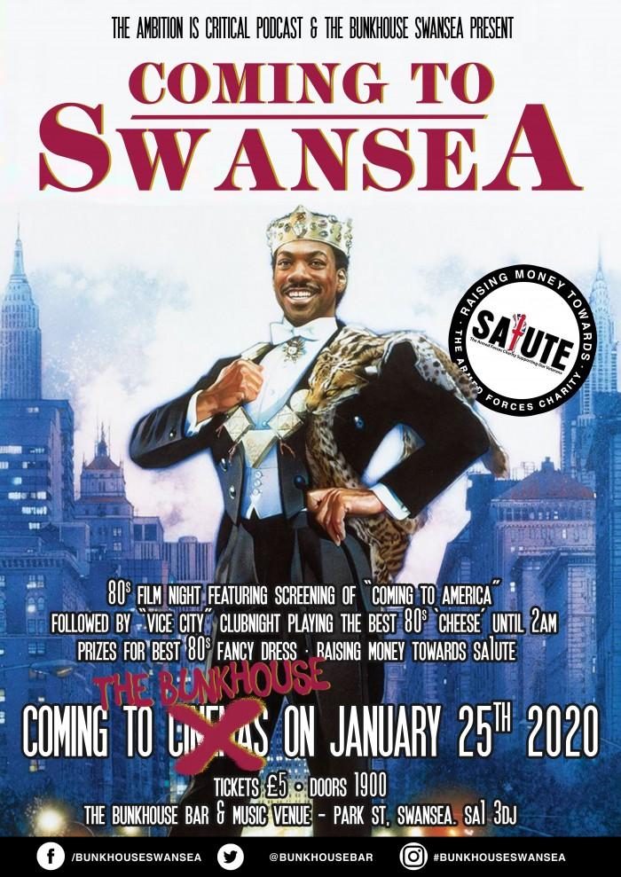 Coming To Swansea - 80s Film Night
