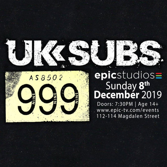 UK Subs + 999 'Punk Xmas Bash'