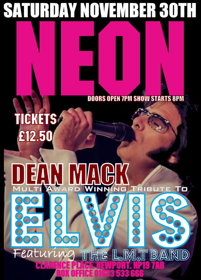 Dean Mack Award Winning Tribute to ELVIS