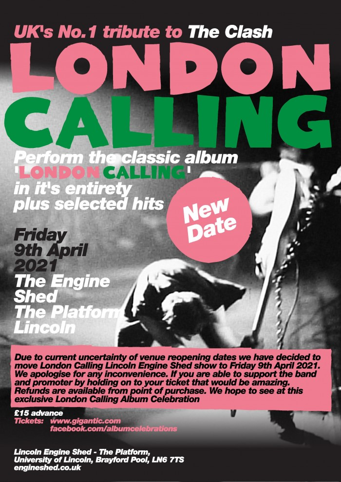 London Calling, the UK's Nr 1 Clash Tribute Band play the LONDON CALLING album