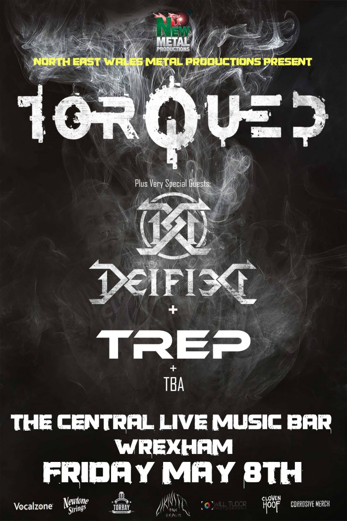NEW Metal Productions Presents Torqued, Deified, TREP + 1