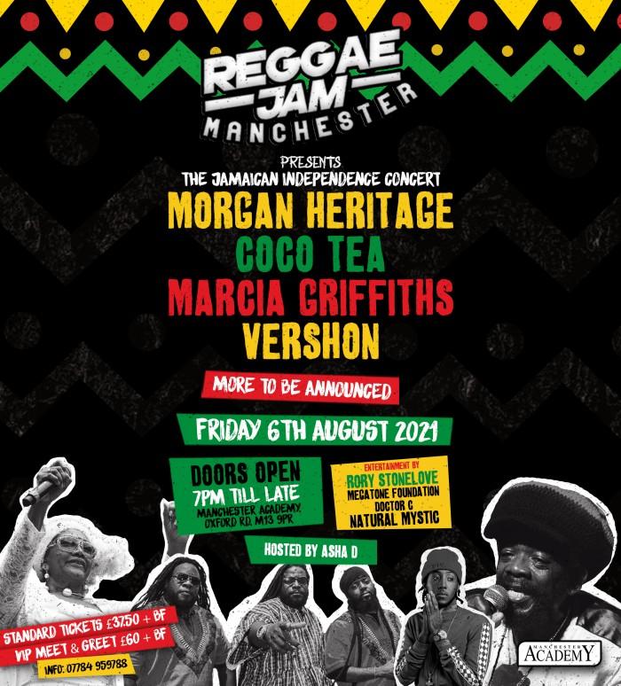Morgan Heritage, Cocoa Tea, Marcia Griffiths, Vershon plus more